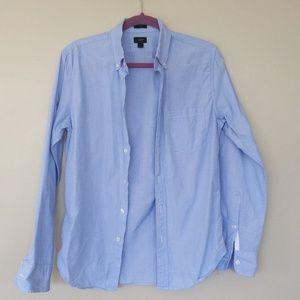 JCrew Slim Button Down Casual Blue Shirt